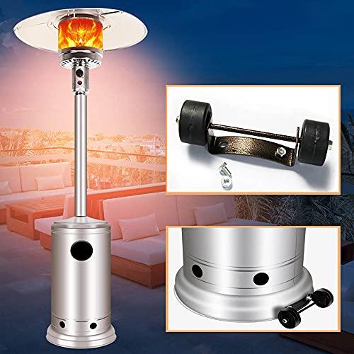 Kit universal de ruedas para calentador de patio: fácil de mover/instalar, paraguas al aire libre Calentador de gas natural licuado de propano Repuesto de piezas de ruedas móviles Accesorios