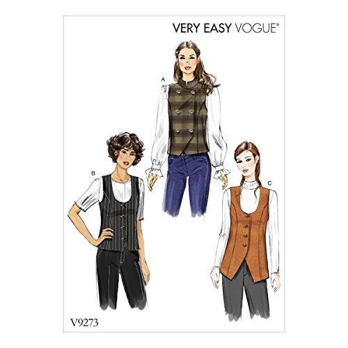 Vogue Patrones de Costura para Chaleco, Multicolor, tamaño 6–14