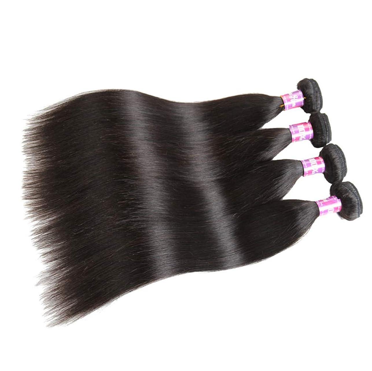 理解傷つきやすい保険をかけるブラジルのストレートヘアバンドル安いブラジルのヘアバンドルストレートの人間の髪のバンドルナチュラルブラックカラー300g(3バンドル)