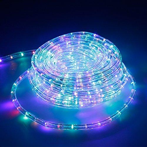 ECD Germany LED Lichtschlauch Lichterschlauch 20 Meter - RGB/Bunt - 36 LEDs/m - Innen/Aussen - IP44 - Lichterkette Lichtband Licht Leucht Dekoration Schlauch Leiste Streifen Strip