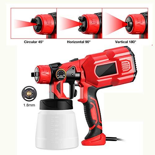 Kecheer Pistola para pintar electrica 800ml,Pistola de pintura profesional,Pulverizadora pintura 400W