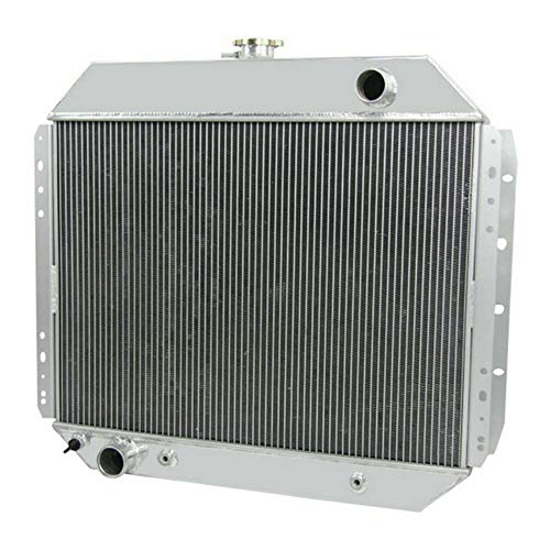 OzCoolingParts 66-79 Ford F-Series Radiator, 2 Row Core Aluminum Radiator for 1966-1979 1968 1969 75 77 Ford F100 F150 F250 F350 Truck Pickup, Bronco V8 Engine