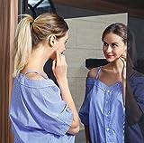 QIXIN mirror wall sticker-mirror effect wall sticker anti-fall, non-glass plastic wall mirror room decoration, self-adhesive flexible yoga, sports, makeup haha mirror (20inch39inch)