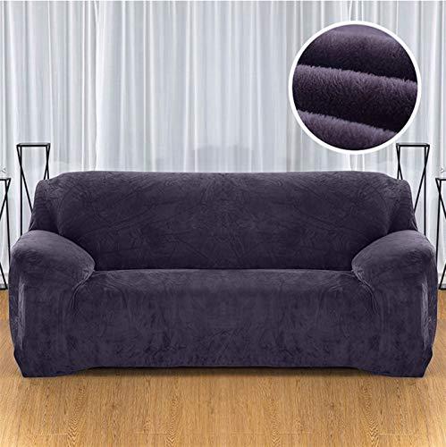 Einfach zu installierender und bequemer Sofa Sofaabdeckungen, Plüsch FabIRC-Sofa-Cover 1/2/3/4 Sitzer Dicke Slipcover Couch Sofacover Stretch Elastic Günstige Sofaabdeckungen Handtuch Wrap Covering