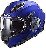 LS2 Valiant II Casco de Moto, Unisex Adulto, Azul Mate, XL