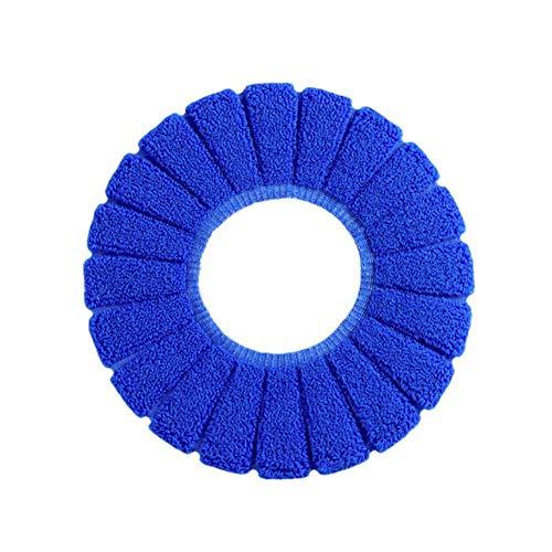 2019 Nieuwe 1 st 29 cm in Diameter Multi kleuren Comfortabele Fluwelen Koraal Toilet Seat Cover Standaard Pompoen Patroon Kussen Blauw