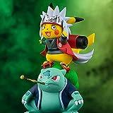 Pokemon Anime Figures Pikachu Cosplay Namikaze Minato,Uchiha Itachi, Tsunade, Jiraiya,GK Naruto Anime Statue Collection PVC Model Toys Gift (Jiraiya)