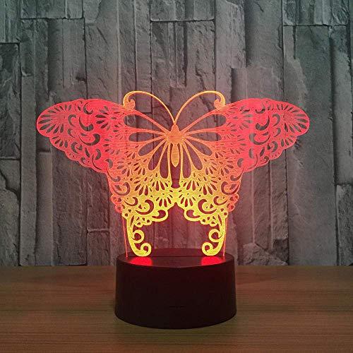 3D lámpara de ilusión visual transparente acrílico noche luz LED lámpara de color cambiante táctil mesa bulbing lámpara