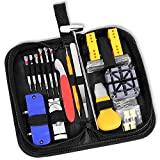 Ohuhu 156 PCS Watch Repair Tool Kit, Case Opener Spring Bar Watch Band Link Tool Set With Carrying Bag,...