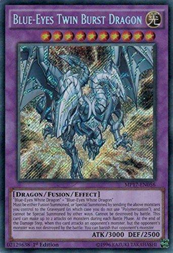 Yugioh 1st Ed Blue-Eyes Twin Burst Dragon MP17-EN056 Secret 1st Edition Mega Pack 2017 Cards