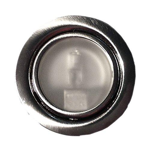 Möbeleinbauleuchte Farbe: Edelstahl | 12Volt AC G4 20Watt inkl. Leuchtmittel (dimmbar) | Bohrloch: 55-60mm - Außen: 70mm - Einbautiefe: 15mm | - auch für LED G4 Lampen geeignet