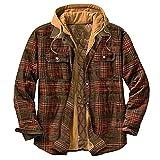 BIKETAFUWY Chaquetas de invierno para hombre, ligeras, de algodón, para otoño e invierno, parka de invierno, chaqueta de entretiempo, marrón, XXL
