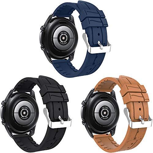 Songsier Correa Compatible con Galaxy Watch 3 45mm/Galaxy Watch 46mm/Gear S3/Gear 2/ Huawei Watch GT2 Pro 46mm/Watch GT 46mm/Watch GT Active/Watch 2 Classic, Correa de Repuesto de 22 mm