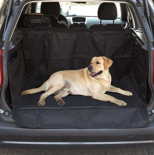 HelpAccess Kofferraum Hundedecke Hunde Autoschondecke Wasserdicht, Kratzfest, Rutschfest, aus hochwertigem Material 600D Oxford, mit Seitenschutz, Extra-Groß 155 x 110 cm.