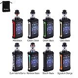 Cigarettes électroniques Geekvape Kit Aegis X 200W TC avec réservoir Cerberus 2 ml, écran OLED de 2,4 pouces, conception étanche, sans nicotine ni batterie (rouge noir)