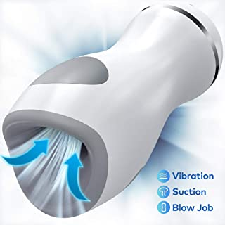 Male Masturbator Cup with 3 Pump Suction & 9 Vibration...