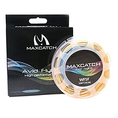 Maxcatch Fly Line with Welded Loop Weight Forward Floating Line Fly Fishing Line 100ft Orange/Blue (3F/4F/5F/6F/7F/8F) by Maxcatch
