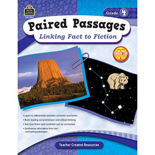 Teacher Created Resources Paired Passages: Linking Fact to Fiction Book, Grade 4