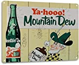 SRongmao Mountain Dew Soda Pop Store Advertising Vintage Look Retro Wall Decor Metal Tin Sign 8x12in
