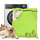 """Pet Laundry Bag, Dog Cat Horse Jumbo Wash Bags, Petwear Washing Machine of Unique Carton Images with YKK Zip for Pets Towel Blankets Toys & More, Large Size 31.5""""27.5"""" (80cm X 70cm)"""