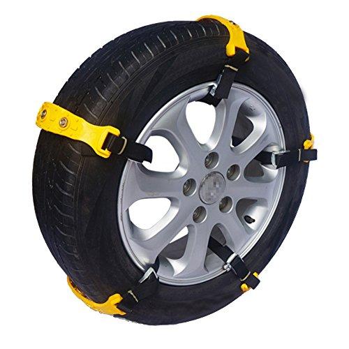 Vococal - 5 PCS Catene da Neve, Catene da Neve per Auto, Catene Antiscivolo per Automobile SUV Universale Trazione per Auto / Camion / SUV Larghezza di Pneumatici 185mm - 225mm
