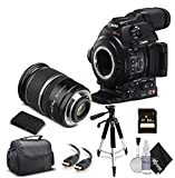 Canon EOS C100 Mark II with Dual Pixel CMOS AF 0202C002 & 17-55MM Lens with Memory Card, Case, Tripod, Starter Bundle (International Model)