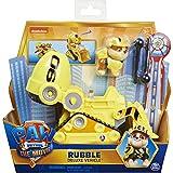 Paw Patrol - Rubble's Deluxe - Vehículo de Juguete transformable con Figura de acción Coleccionable, de la película la Patrulla Canina, Juguetes para niños a Partir de 3 años