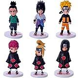 MNZBZ 6 unids/Set Naruto Shikamaru Sasuke Figuras de Acción Anime PVC brinquedos Colección Figuras J...