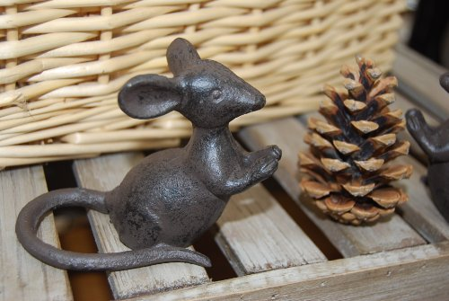 Cast Iron Mouse Home or Garden Ornament