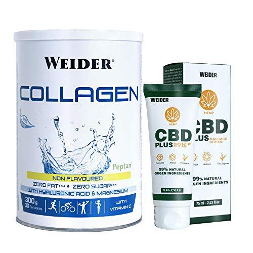 Collagen 300g + CBD en crema (75 ml) un pack completo para el cuidado de tus articulaciones