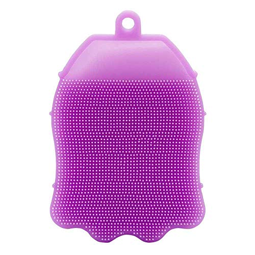 BLAPOXE Silicone Anti Cellulite Body Scrubber Bath Glove Shower Brush, Medium, Random Colour