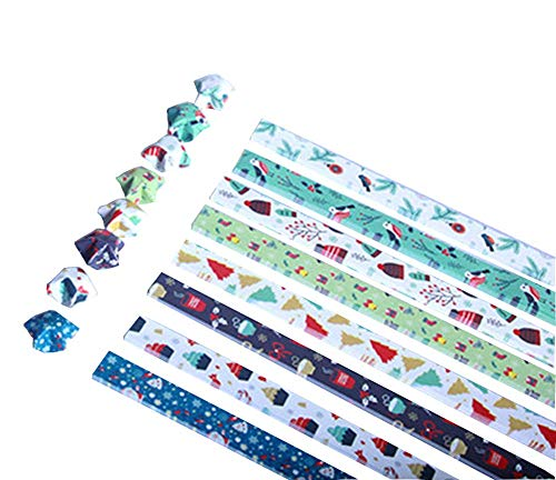 Black Temptation [Navidad] DIY Origami Paper Stars Origami Stars Strip, 8 Colores 840 Hojas