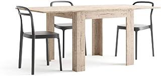 Mobili Fiver, Table Extensible, Eldorado, Chêne Naturel, 90 x 90 x 79 cm, Made in Italy