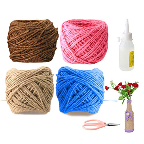 HUDIE DIY Garden Twine, 4 Colors Garden String, Used for Gift Wrapping, Birthday Gifts, Gardening Gifts