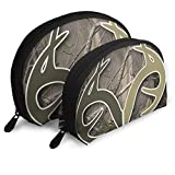 Pequeña Bolsa de Maquillaje cosmética portátil Realtree Camo Wallpapers Travel Portable Cosmetic Bags Organizer Set de 2 para Mujeres Adolescentes niñas