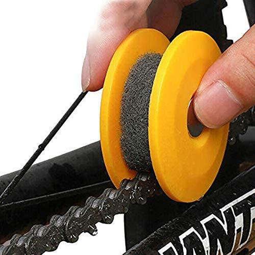 2PC Bike Chain Oiler Smeren, Fietsuitrusting Roller Gadget Fiets Accessoires Gereedschap, Onderhoud Smeren Device, Sprocket Chain Oiler,Yellow