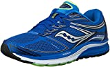 Saucony Men's Guide 9 Running Shoe, Blue/Slime/Black, 11.5 W US