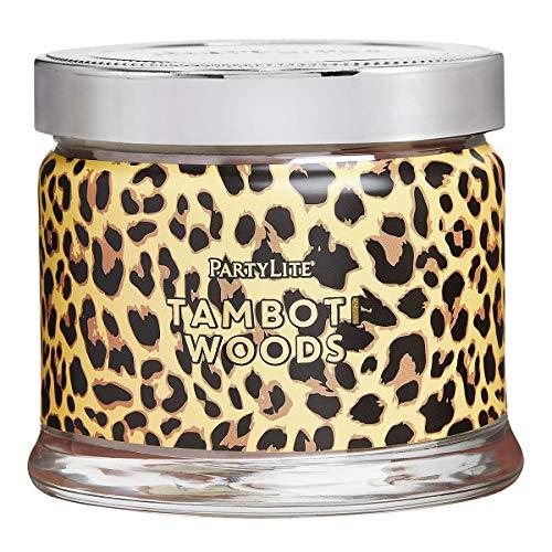 Safari Wood 3 Wick Jar Candle - Leopard Print