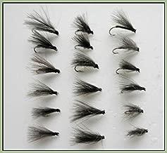 Tailles mixtes 12 16/et 18 14 Lot de 12/sec Gris Duster mouches de p/êche