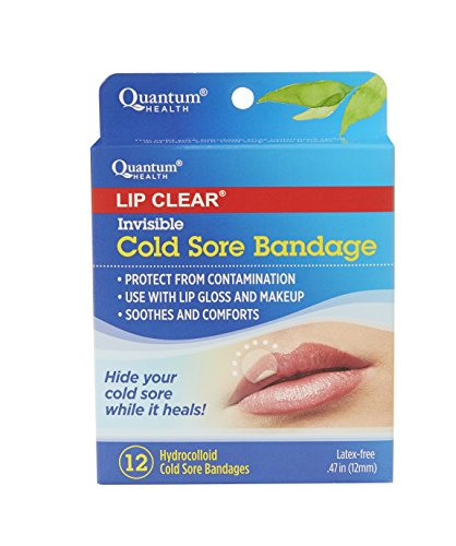 Quantum Health Lip Clear Invisible Cold Sore Bandage To Help Soothe Protect and Prevent Contamination  12 Count