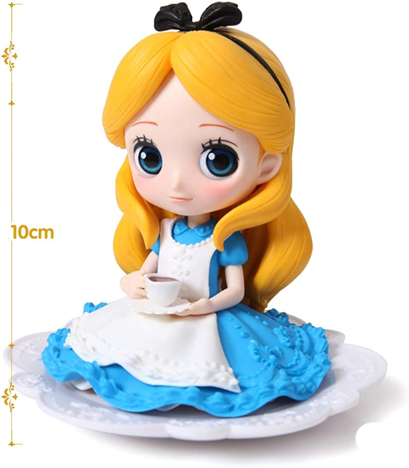 KUHU Anime Doll Cartoon Character Action Figures Model Doll Gift Girl Hand Collection Car Decoration Decoration bluee