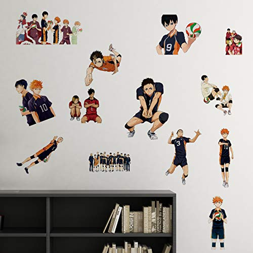 Haiky_uu Wall Decals 16x24in Manga Decor Art Anime Vinyl Stickers for Bedroom Waterproof Wall Art