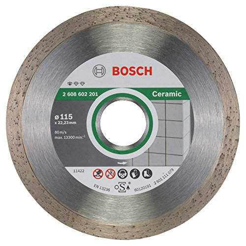 Bosch 2 608 602 201 - Disco tronzador de diamante Standard for Ceramic - 115 x 22,23 x 1,6 x 7 mm (pack de 1)