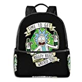 Backpack Rick and Morty Riggity Riggity Wrecked Laptop Backpack Fashion Theme School Backpack
