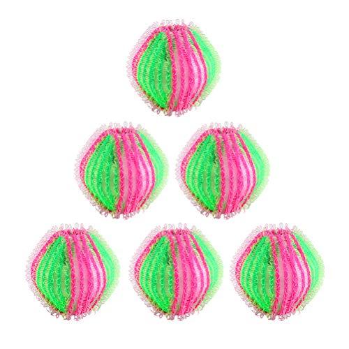 BSTiltion 6 Stück Fusselbälle Mini-Waschbälle für Waschmaschine Haustier Haarentferner Tierhaarentferner für Kleidung Waschbälle Schwimmende Reinigungskugeln für Wäsche Haar Flusen Greifen