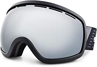 HUBO SPORTS Ski Snow Goggles for Men Women & Youth, Over Glasses Ski/Snowboard Goggles of Dual Lens with Anti Fog & UV400 in Skiing