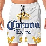 Photo de GDHGD Corona Extra Beer Homme Summer Holiday Short de Bain à séchage Rapide Short de Plage Shorts de Bain