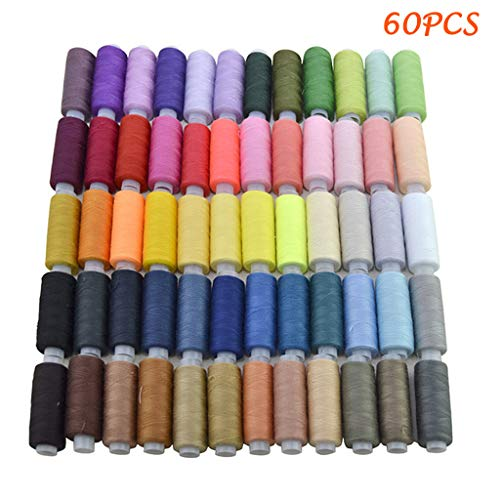Check Out This Cliramer Sewing Threads for Sewing Machine - Colors Spools Polyester Sewing Thread Ki...