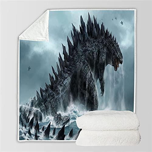 EA-SDN Godzilla Contra King Kong Manta para niños, manta de franela muy suave y cómoda, apta para 2 personas, manta de aire acondicionado para sofá (3,70 x 100 cm)