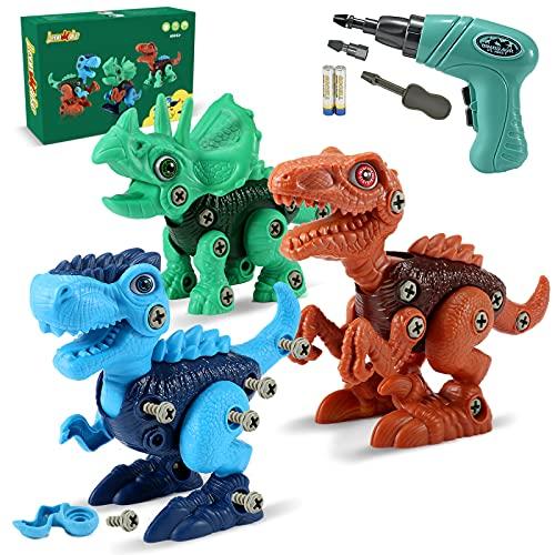 LeonMake Kids STEM Dinosaur Toys: Take Apart Dinosaur Toys for Age 3 4 5 6 7 8 |...